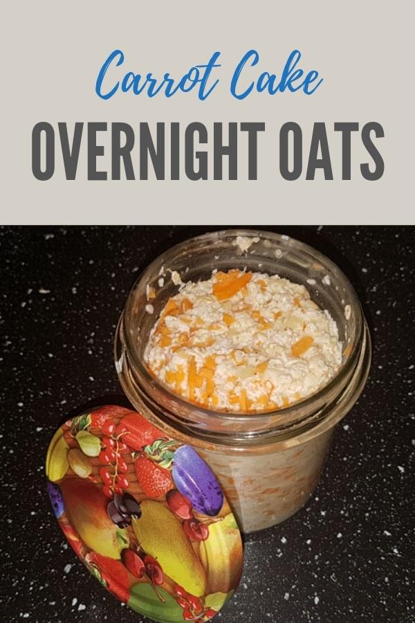 Pinterestbild zum Rezept Carrot Cake Overnight Oats