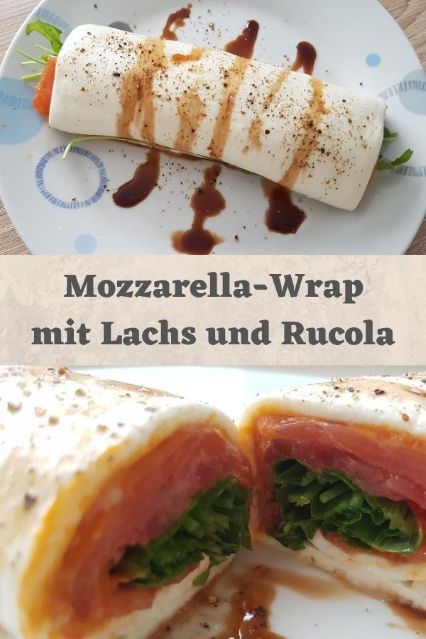 Mozzarella-Wrap mit Lachs und Rucola