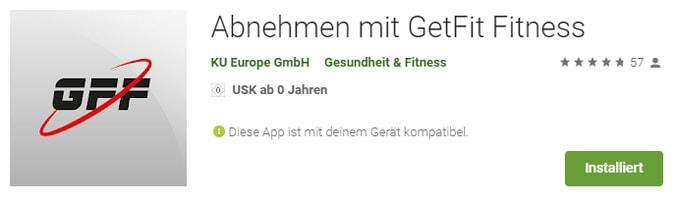 Screenshot der App im Google Play Store