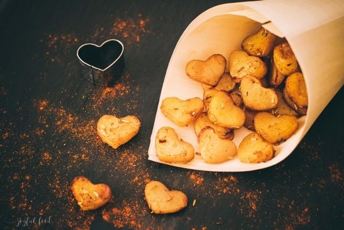 Herz-Kartoffeln zum Valentinstag