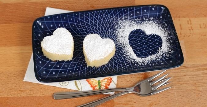 Käsekuchen-Herzen