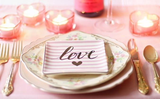 Valentinstag-Tisch