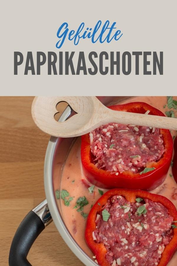 Pinterestbild zum Rezept Gefüllte Paprikaschoten