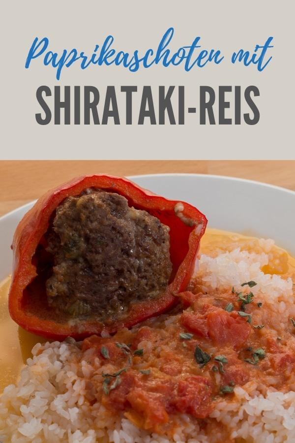 Pinterestbild zum Rezept Paprikaschoten mit Shirataki-Reis