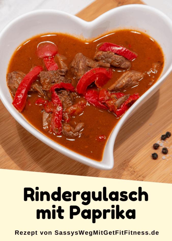 Pinterestbild zum Rezept Rindergulasch mit Paprika