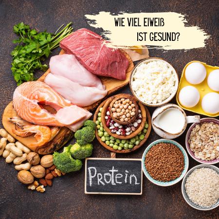 """Eiweißhaltige Lebensmittel auf einem Tisch - Bild zum Beitrag """"Ernährungstipps - wie viel Eiweiß ist gesund?"""""""