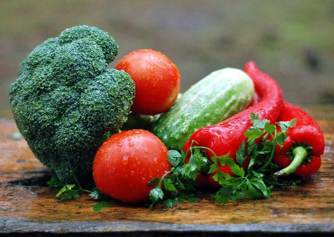Verschiedenes Gemüse, Lebensmitteln von meiner Low Carb Einkaufsliste