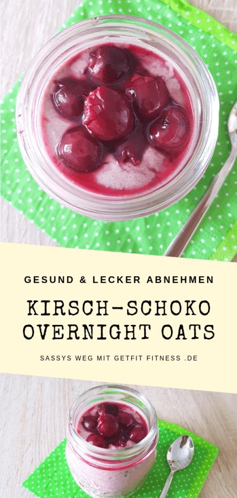 Pinterest-Bild zum Rezept Kirsch-Schoko Overnight Oats