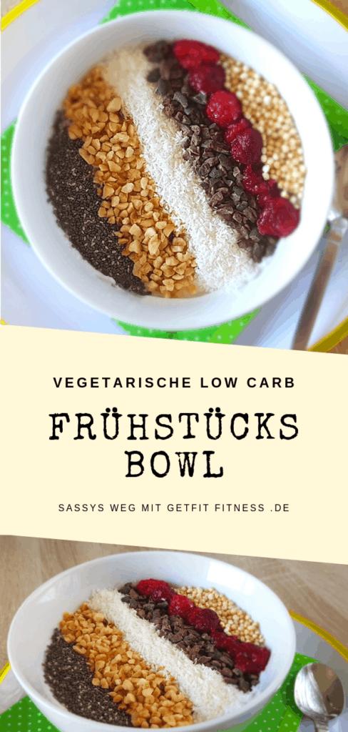 Pinterestbild zum Rezept Low Carb Frühstücks Bowl