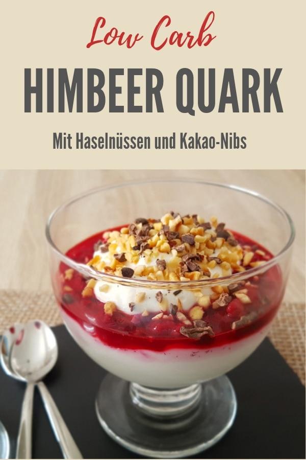 Pinterest-Bild zum Rezept Himbeer Quark
