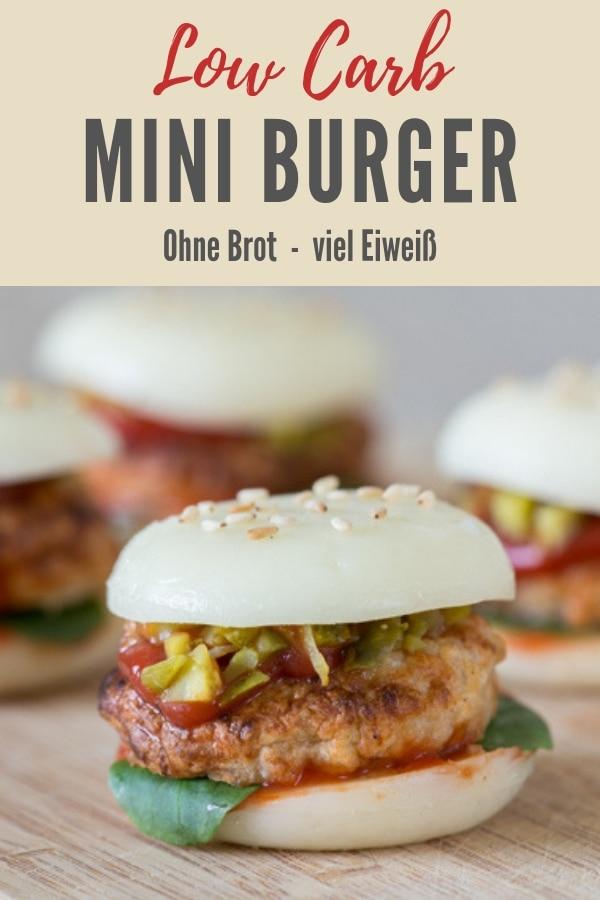 Bild zum Rezept Low Carb Mini Babybel-Burger