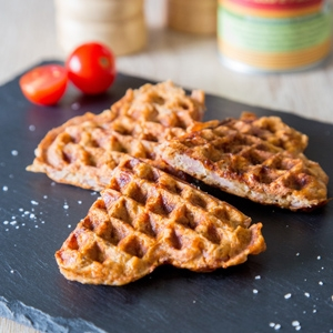 Low Carb Pizza-Waffeln