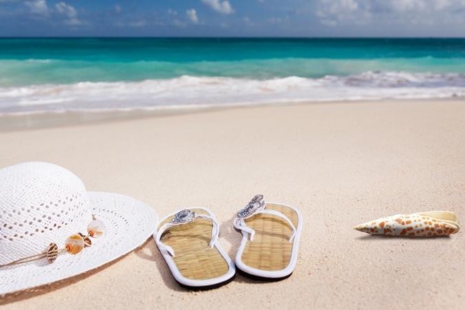 Flipflops am Strand